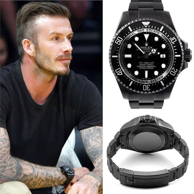 That time David Beckham wore a blacked-out Rolex Sea-Dweller courtside, with a custom Tudor thrown in