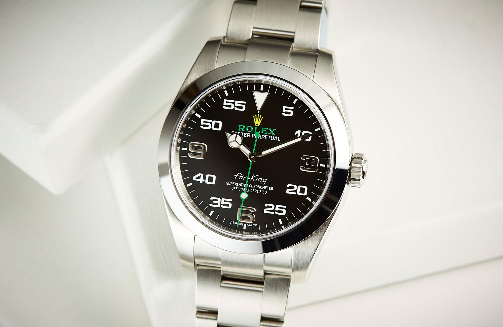 The fresh-faced Rolex Air-King ref. 116900