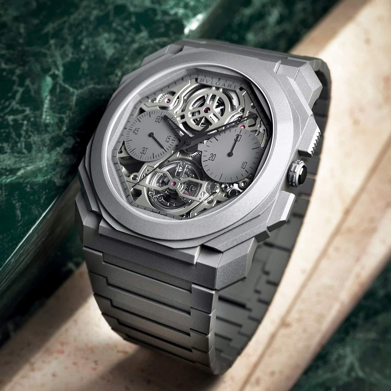 INTRODUCING: The breathtaking and brutally slim Bulgari Octo Finissimo Tourbillon Chronograph Skeleton Automatic