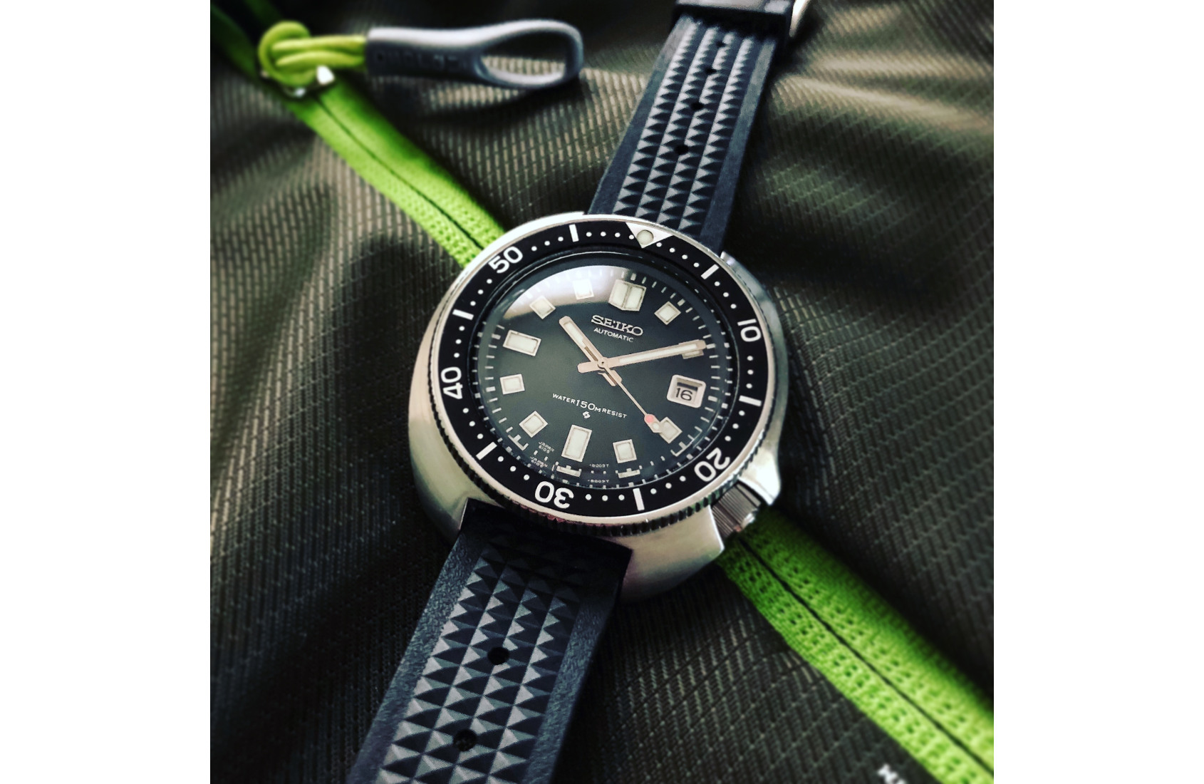 WHAT SEALED THE DEAL: On Chad's vintage Seiko 6105