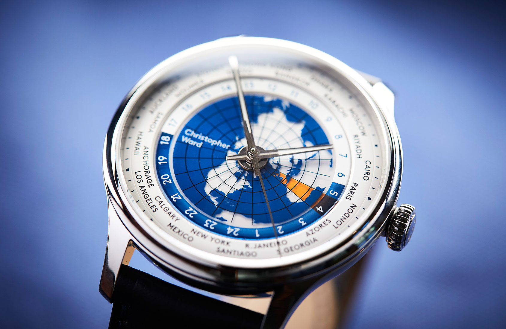 Is this the most accessible true worldtimer on the market right now? The Christopher Ward C1 Grand Malvern Worldtimer