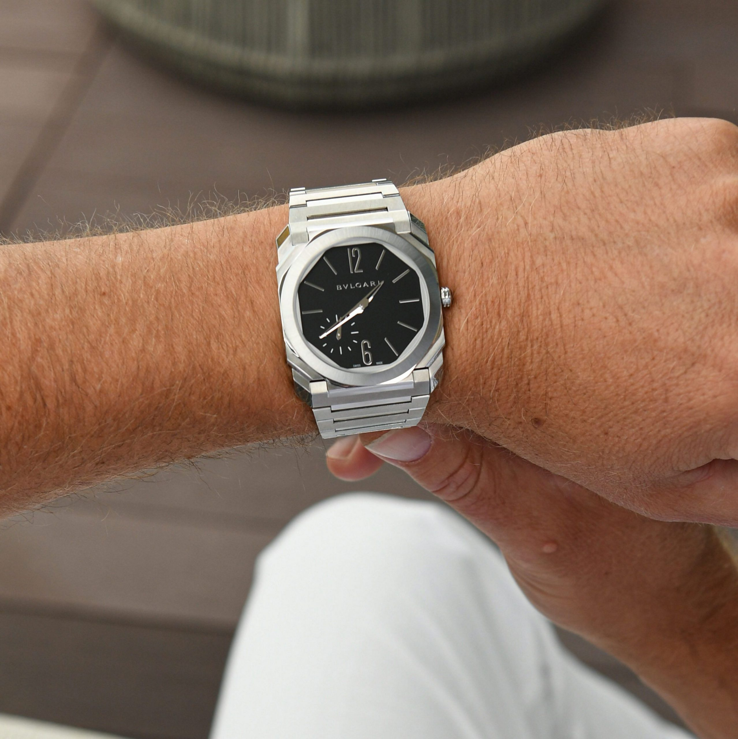 The Steel Bulgari Octo Finissimo has started to hit boutiques, game on