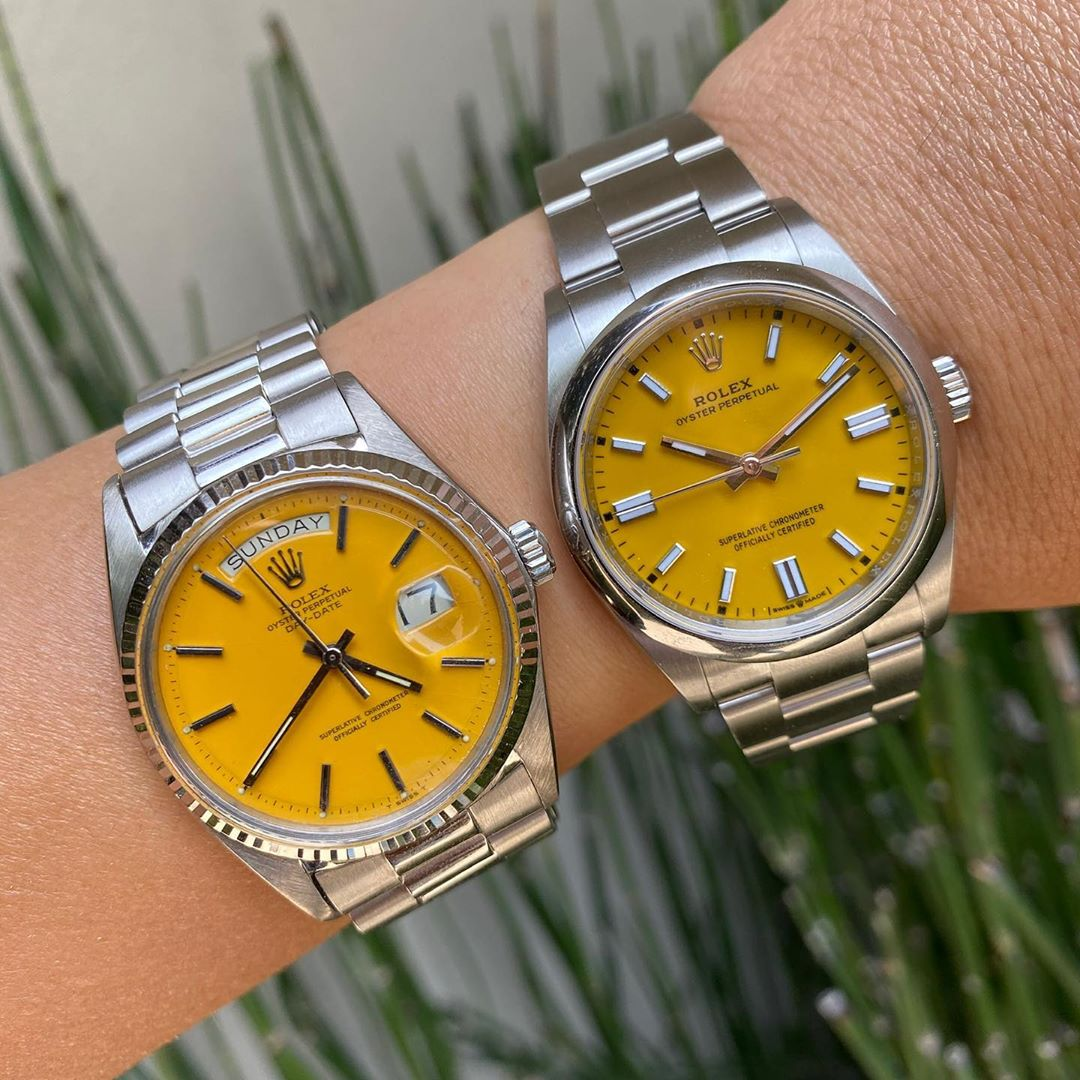 Is Rolex trend-chasing with its new colourful range of Oyster Perpetual models? A look back into the brand's colourful past…