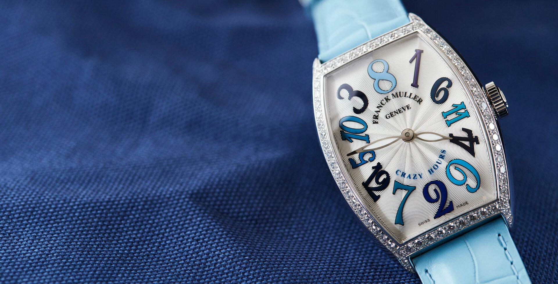 Crazy love – Franck Muller's Cintrée Curvex Crazy Hours in blue tones
