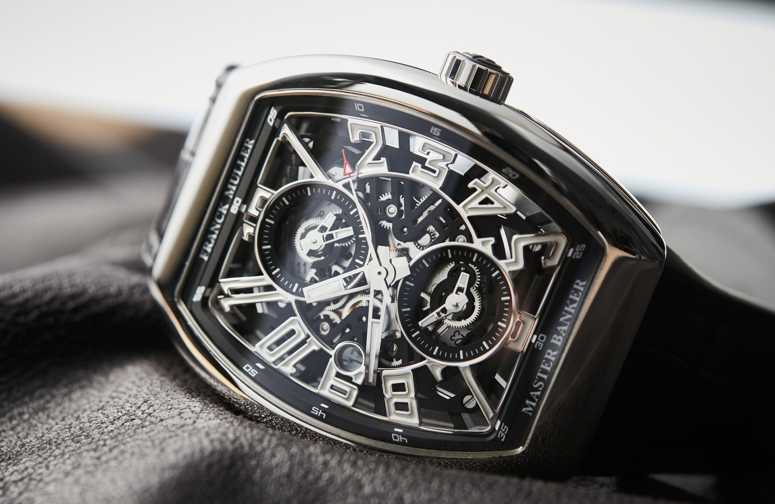 INTRODUCING: The triple threat of the Franck Muller Master Banker in steel
