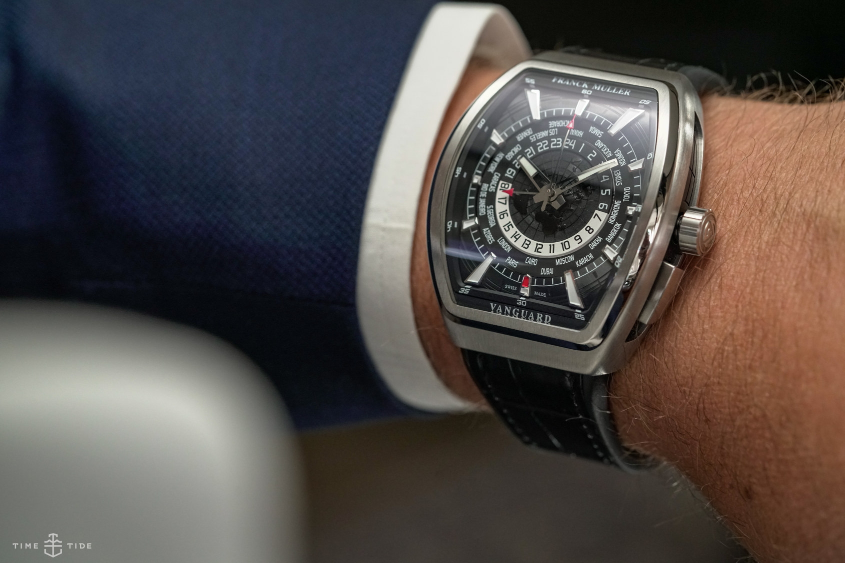 INTRODUCING: This one has the time, now all you need is the jet – the Franck Muller Vanguard World Timer GMT