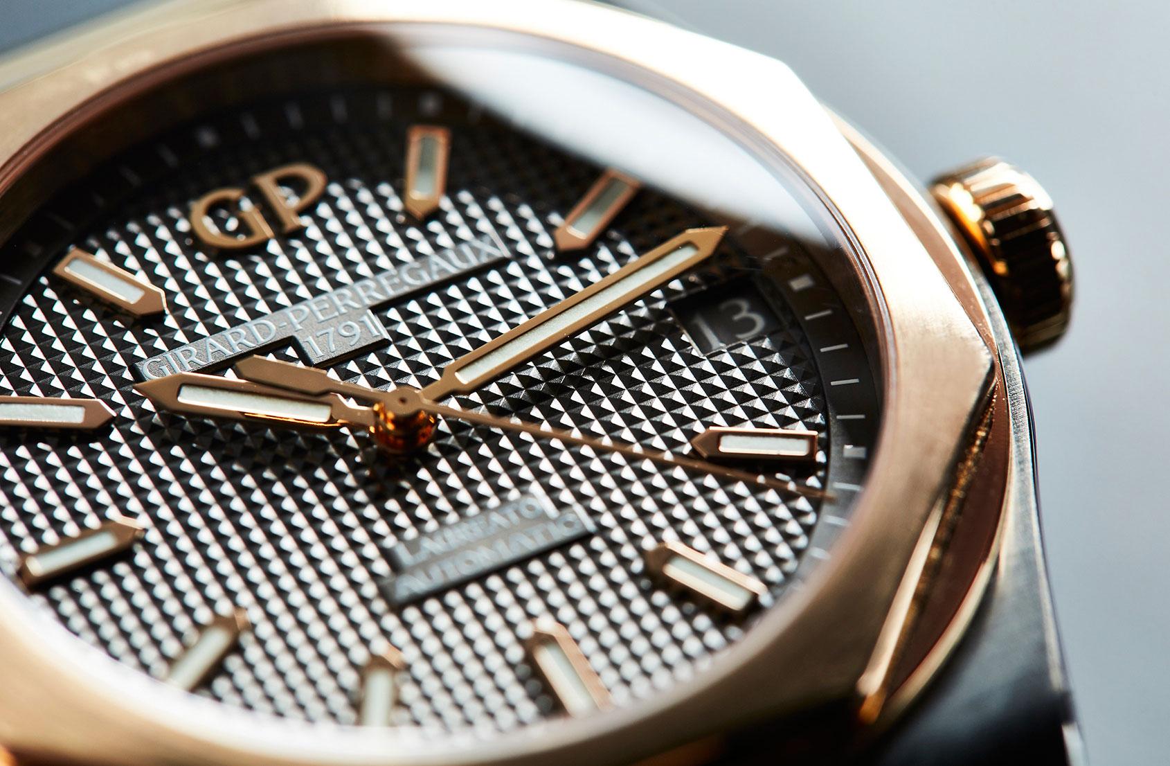 Industrial aesthetics – the Girard-Perregaux Laureato in titanium and pink gold