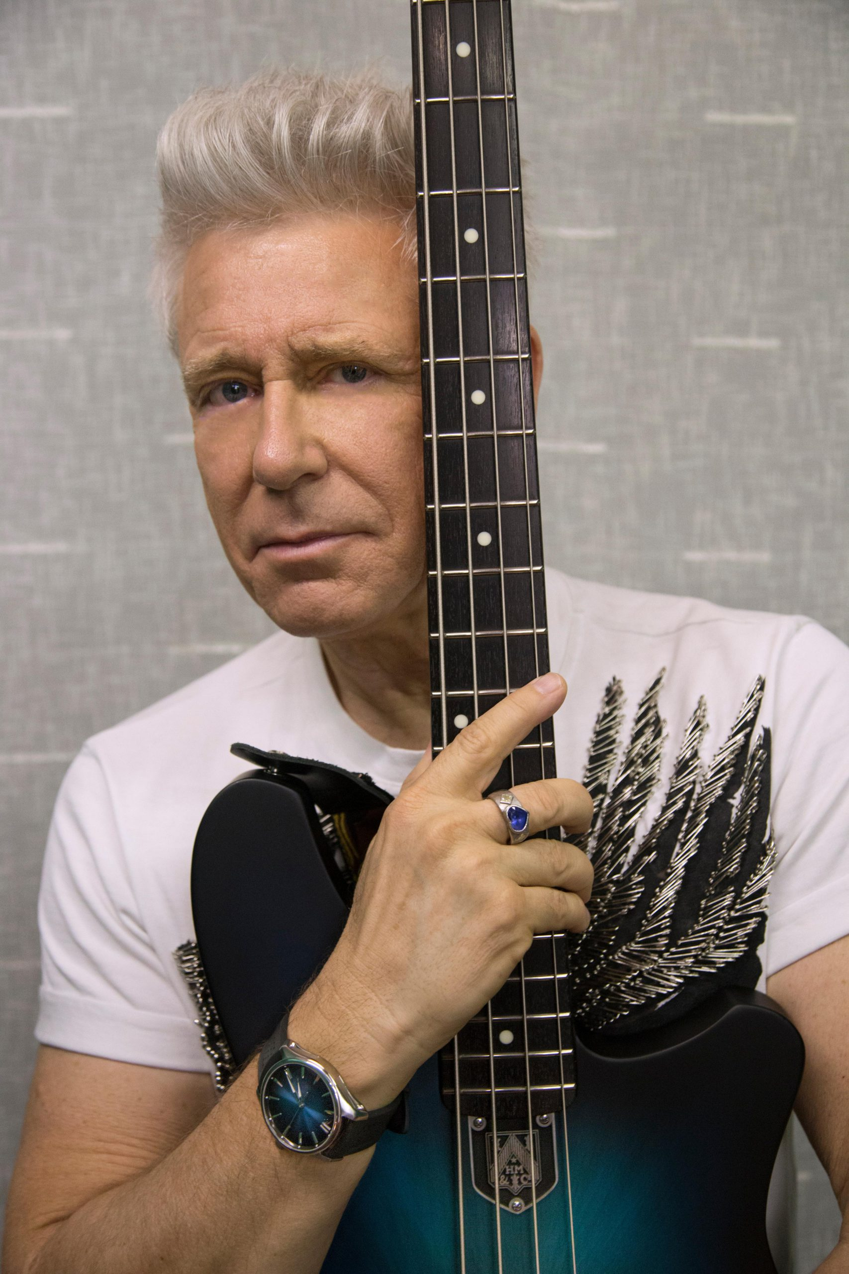"""""""Watch & Act!"""" Auction Item – Lot 1: U2 bass player Adam Clayton's H. Moser & Cie Pioneer Centre Seconds Limited Edition #1 of 3, with funky blue dial"""