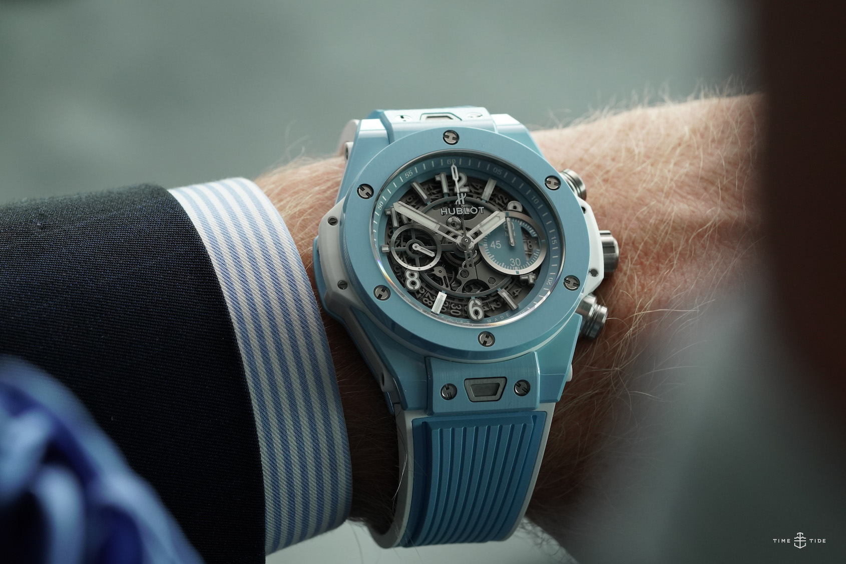 HANDS-ON: Hublot has nailed the 2020 mood with the most cheerful shade of sky blue for this Big Bang