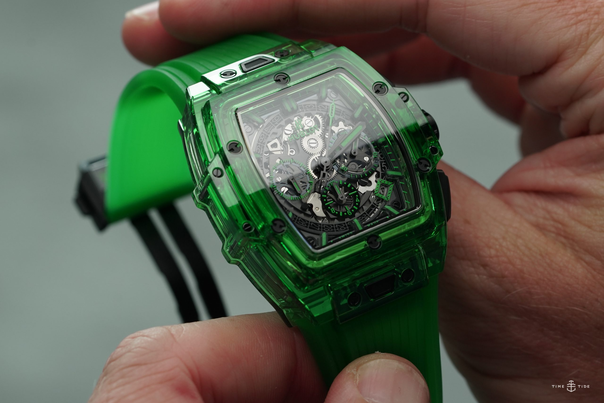 HANDS-ON: The Hublot Spirit of Big Bang Green Saxem