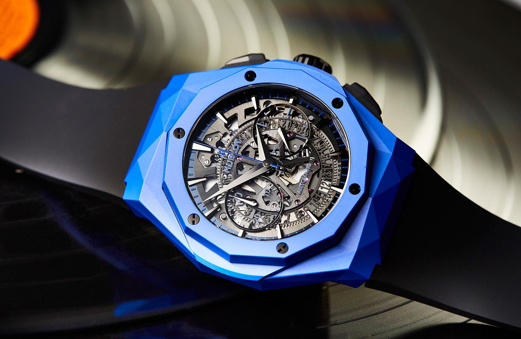 Blue heaven is the Hublot Aerofusion Chronograph Orlinski Blue Ceramic