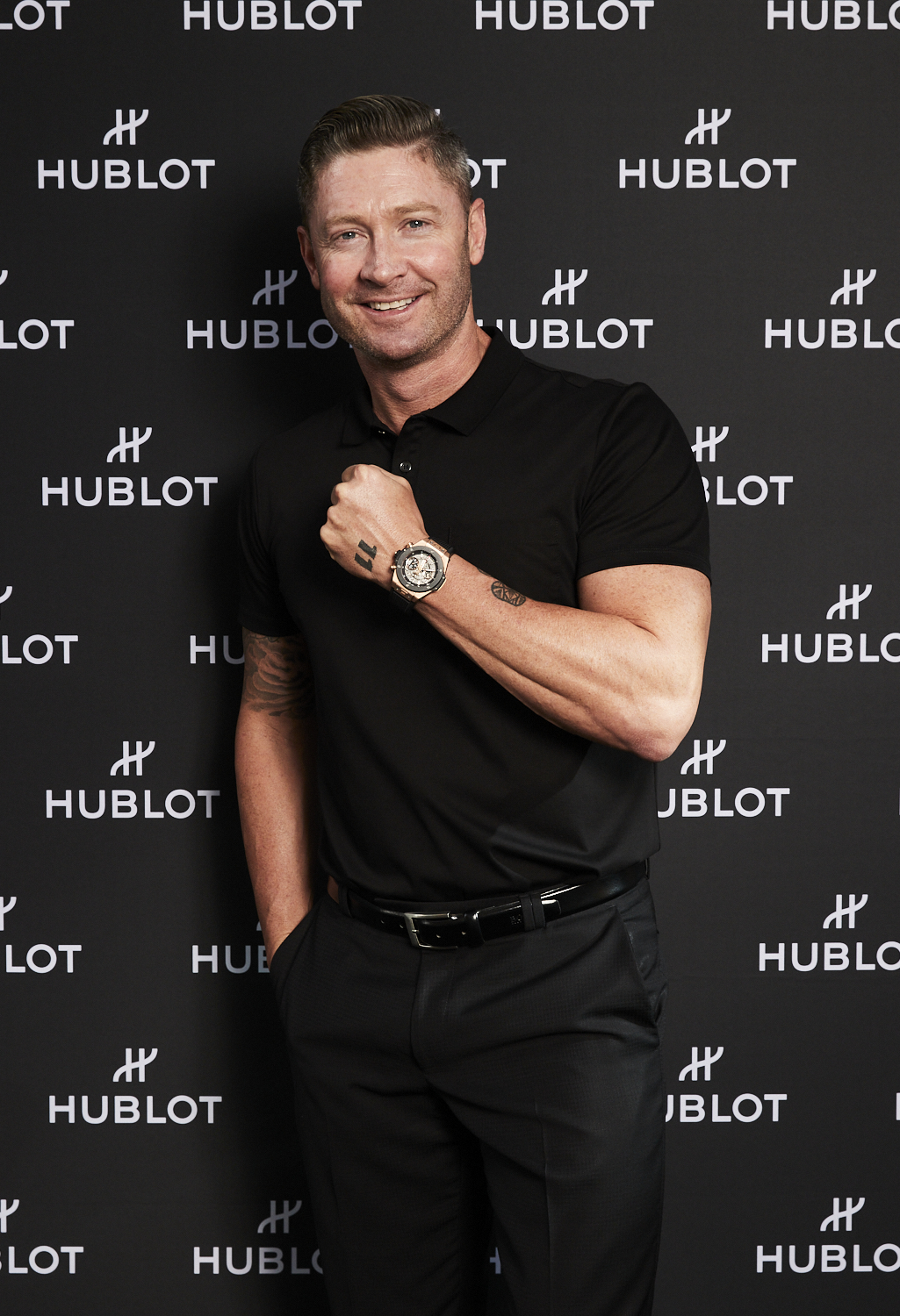 michael clarke hublot 40th anniversary