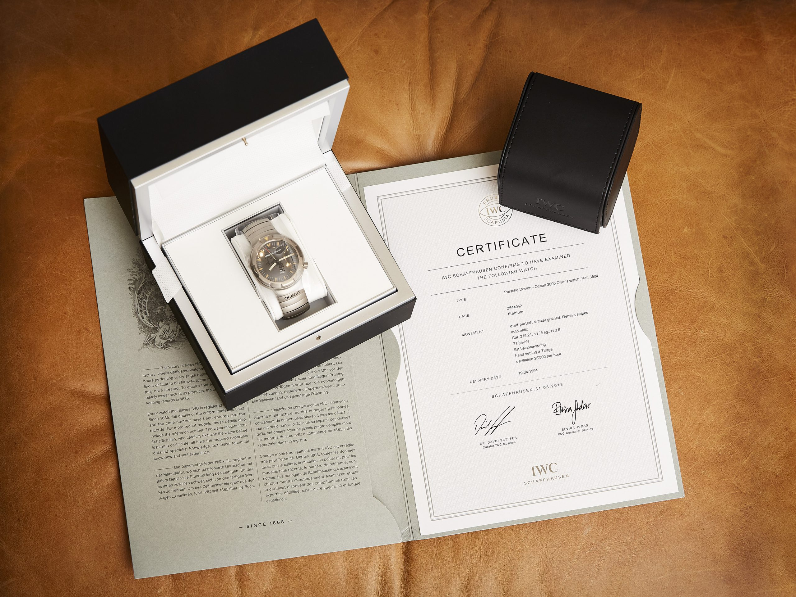 NEWS: We are auctioning a seriously cult-worthy watch for charity, the Porsche Design by IWC Ocean 2000