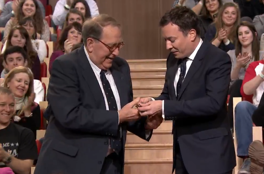 Watch that time Jimmy Fallon gave his father-in-law a Bremont on live TV