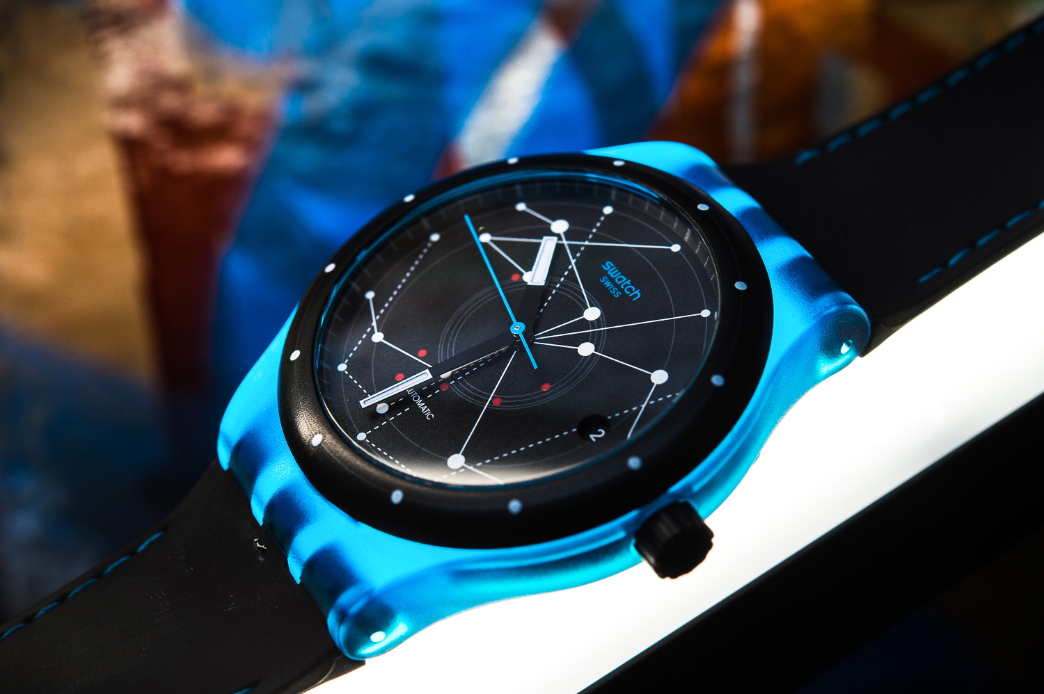 Australian launch of the brand new, all mechanical Swatch Sistem51 BLUE