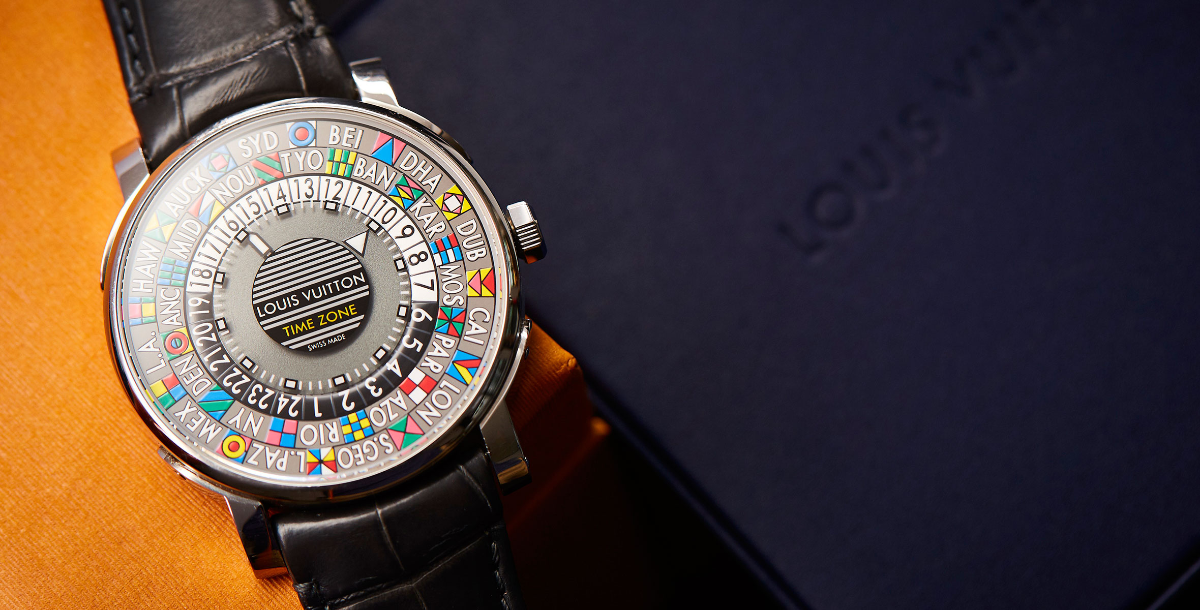 A fashionable watch with a watchmaking heart – the Louis Vuitton Escale Time Zone