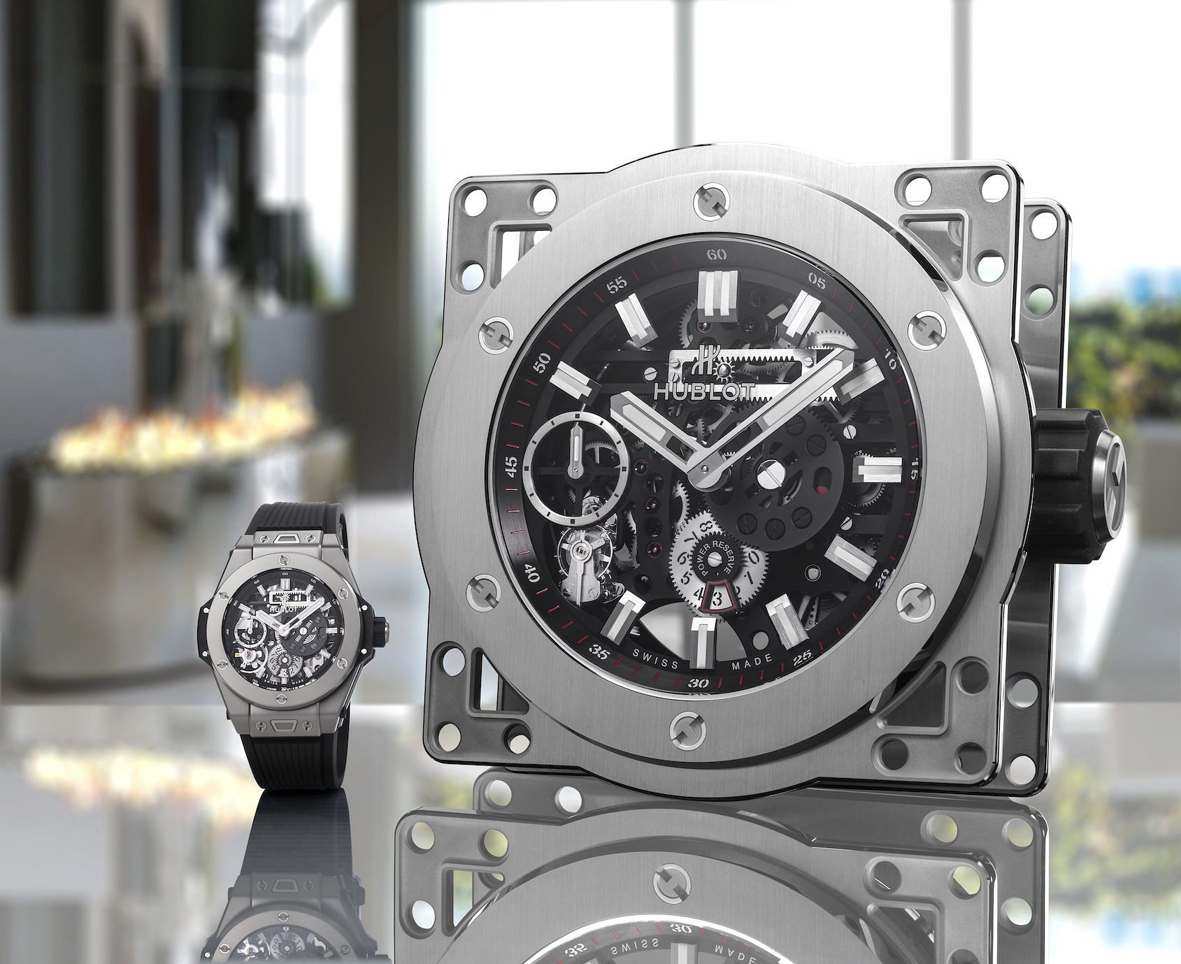 Mass gains! Hublot are peak 2020 as they release a mechanical desk clock FOUR TIMES the size of the Meca-10 model