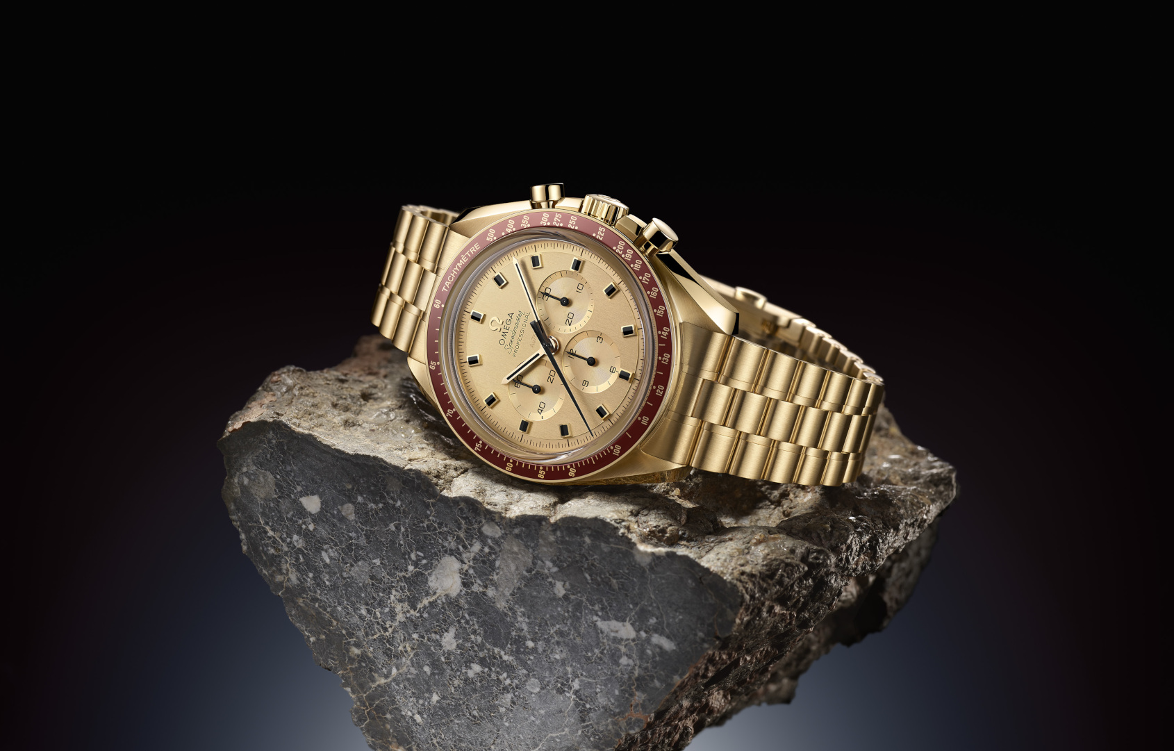 INTRODUCING: A brand new gold Speedmaster for half the price of vintage – the Omega Speedmaster Apollo 11 50th Anniversary Limited Edition