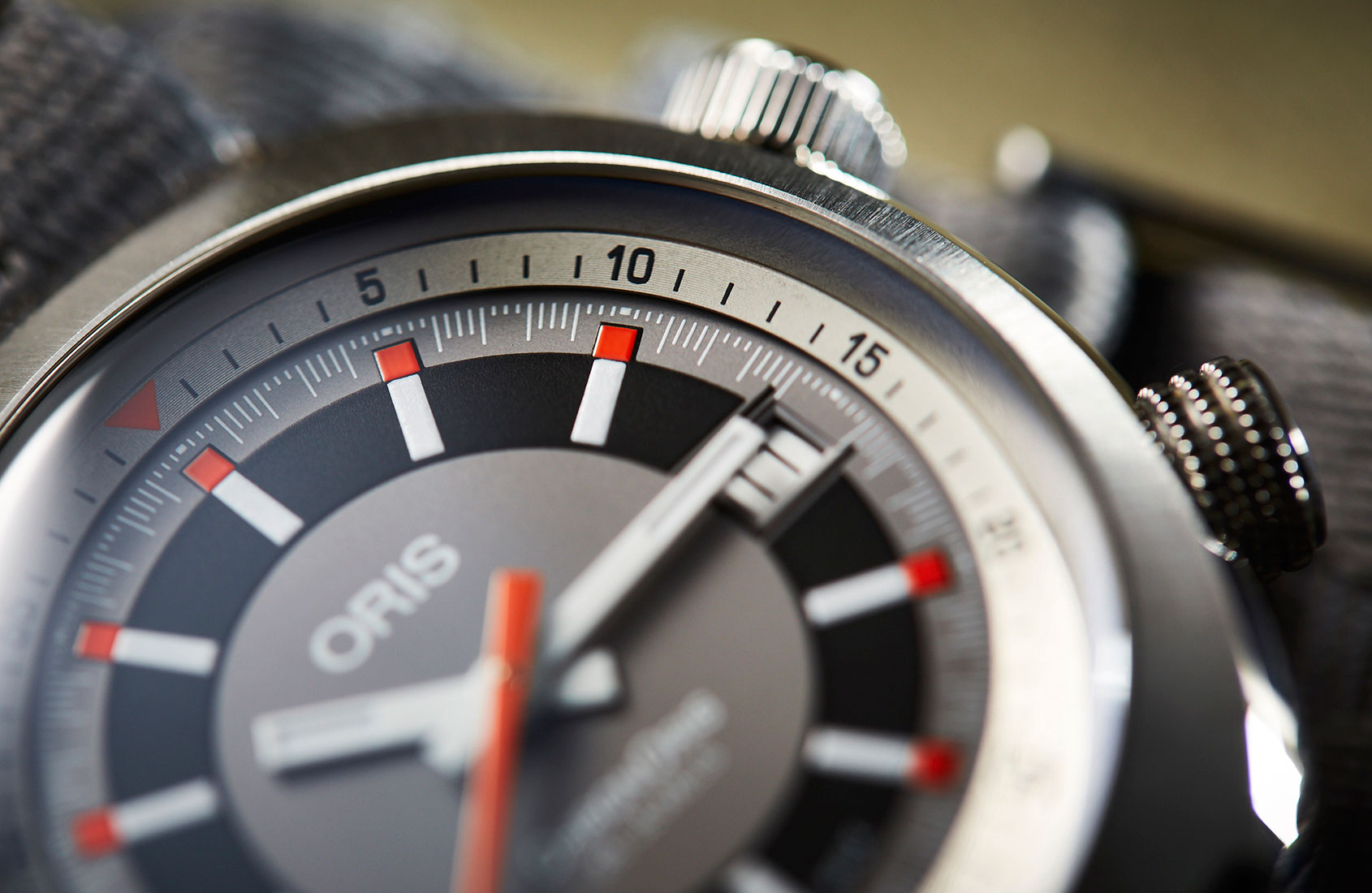 Warm up with the details on this lovely Oris Chronoris