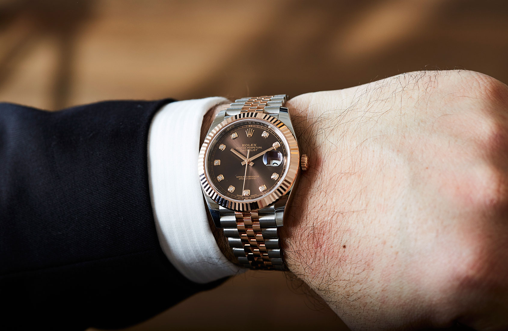Two tones and a sprinkling of diamond – the  Rolex Oyster Perpetual Datejust 41