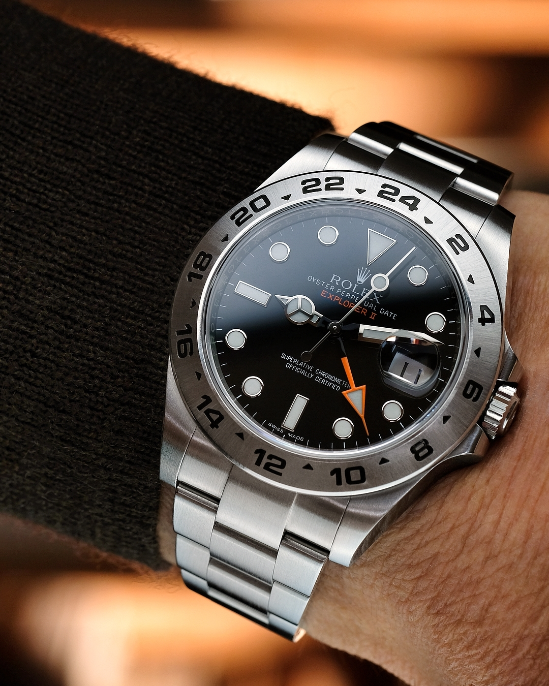 Why is the Rolex Explorer II Ref. 216570 the Luke Hemsworth in the Professional family?