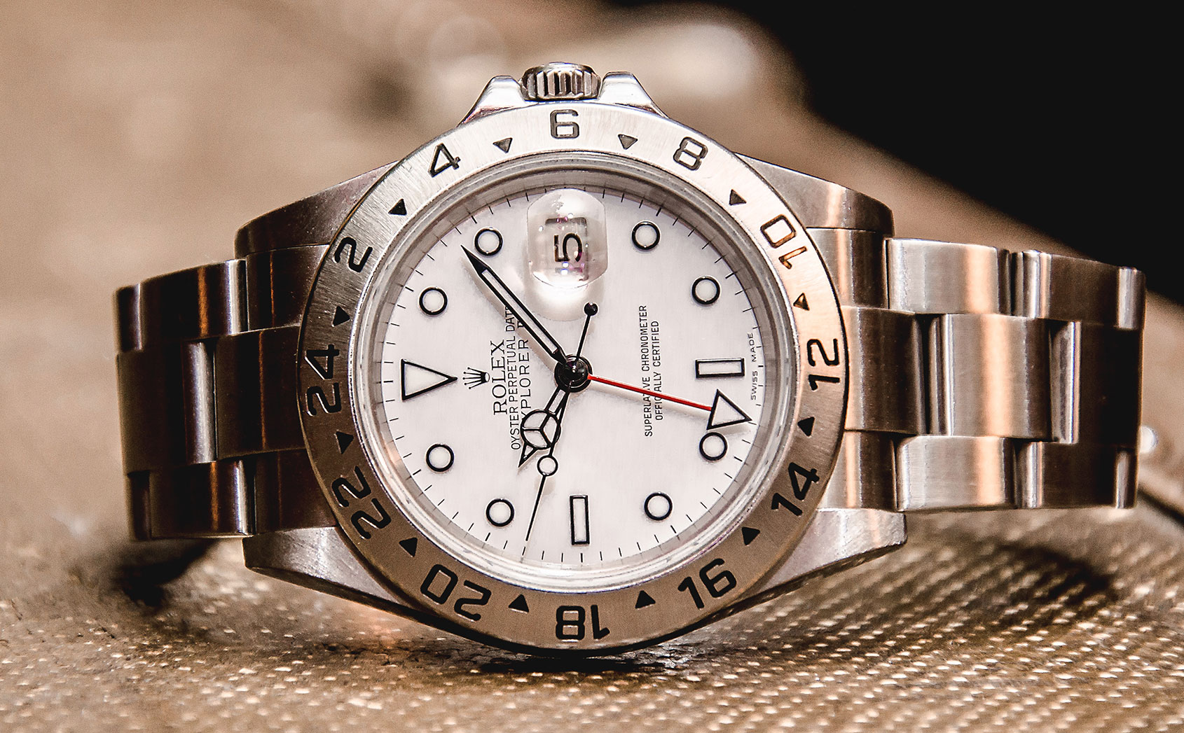 The white dial Rolex Explorer II 16570 is an ice-cold classic hiding in plain sight