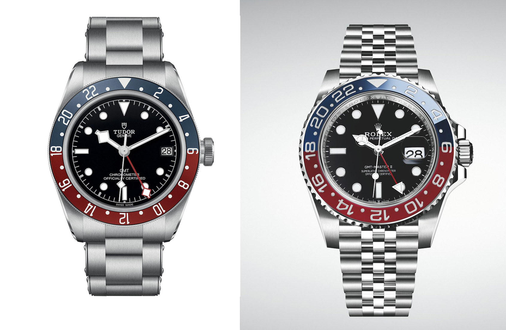 NEWS: Tudor and Rolex in the battle of the Pepsi GMTs gives Basel 2018 its first big moment