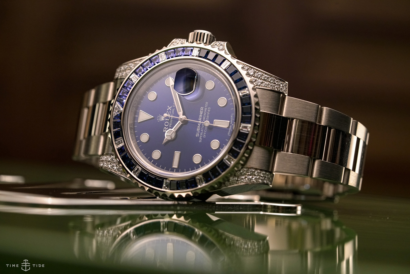 HANDS-ON: The mysterious Rolex Submariner Date ref. 116659 SABR – white gold, blue dial and a whole lot of bling
