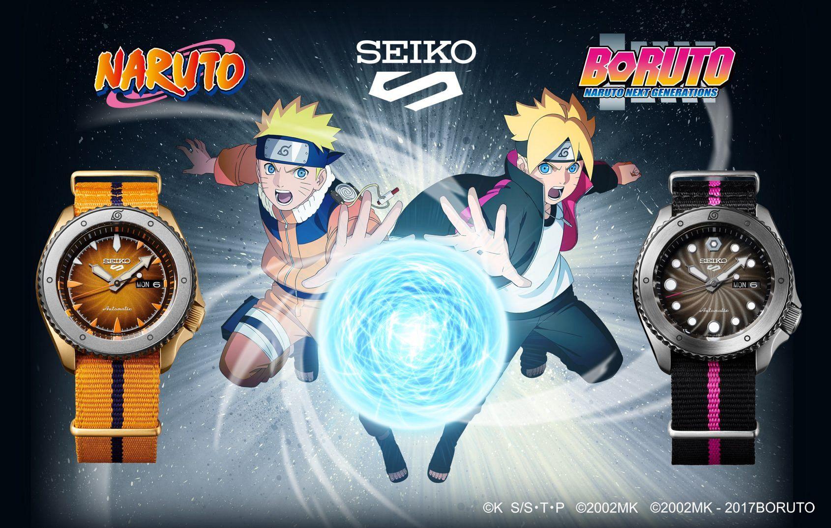Stealth-help: Seiko creates kick-ass new collection inspired by Naruto's anime ninjas