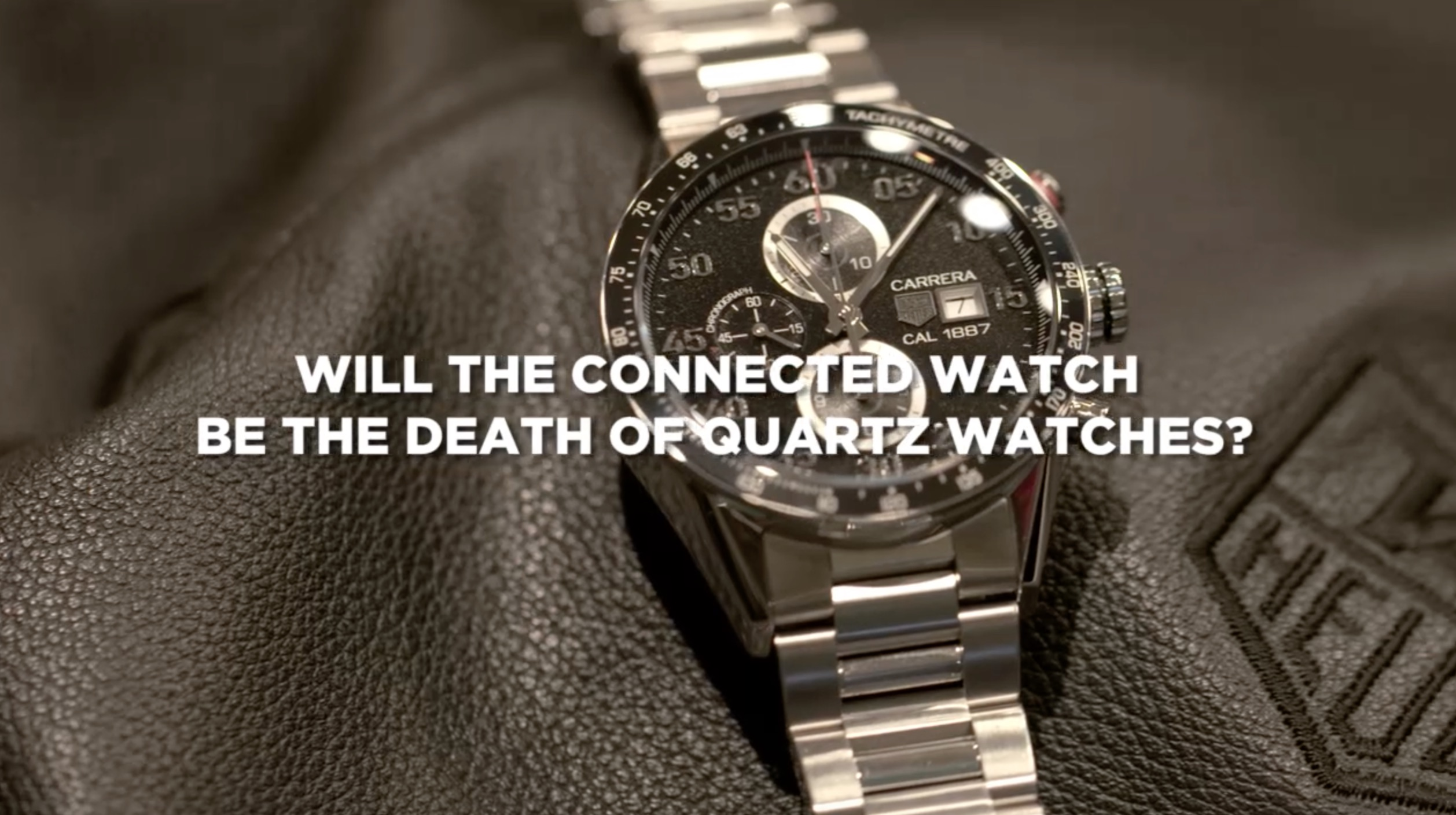 """VIDEO: """"Quartz watches will be destroyed by the tsunami of the connected watch,"""" says TAG Heuer CEO"""