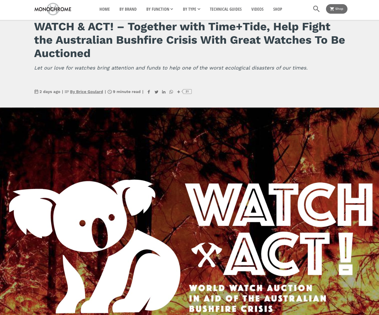 The world's watch media unites to support our Australian bushfire crisis watch auction