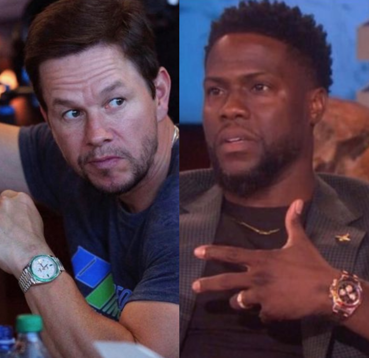 CELEBRITY WATCH DEATH MATCH: Kevin Hart Vs. Mark Wahlberg, a Patek and Rolex-only battle for the ages