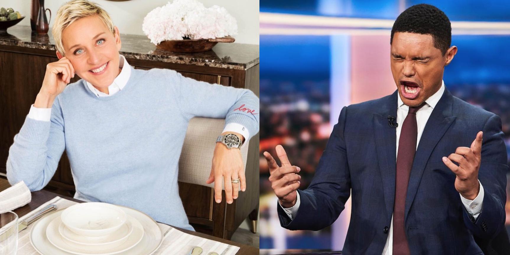 CELEBRITY WATCH DEATH MATCH: Ellen DeGeneres Vs. Trevor Noah, a toe-to-toe bout inc. Rolex, AP and Patek