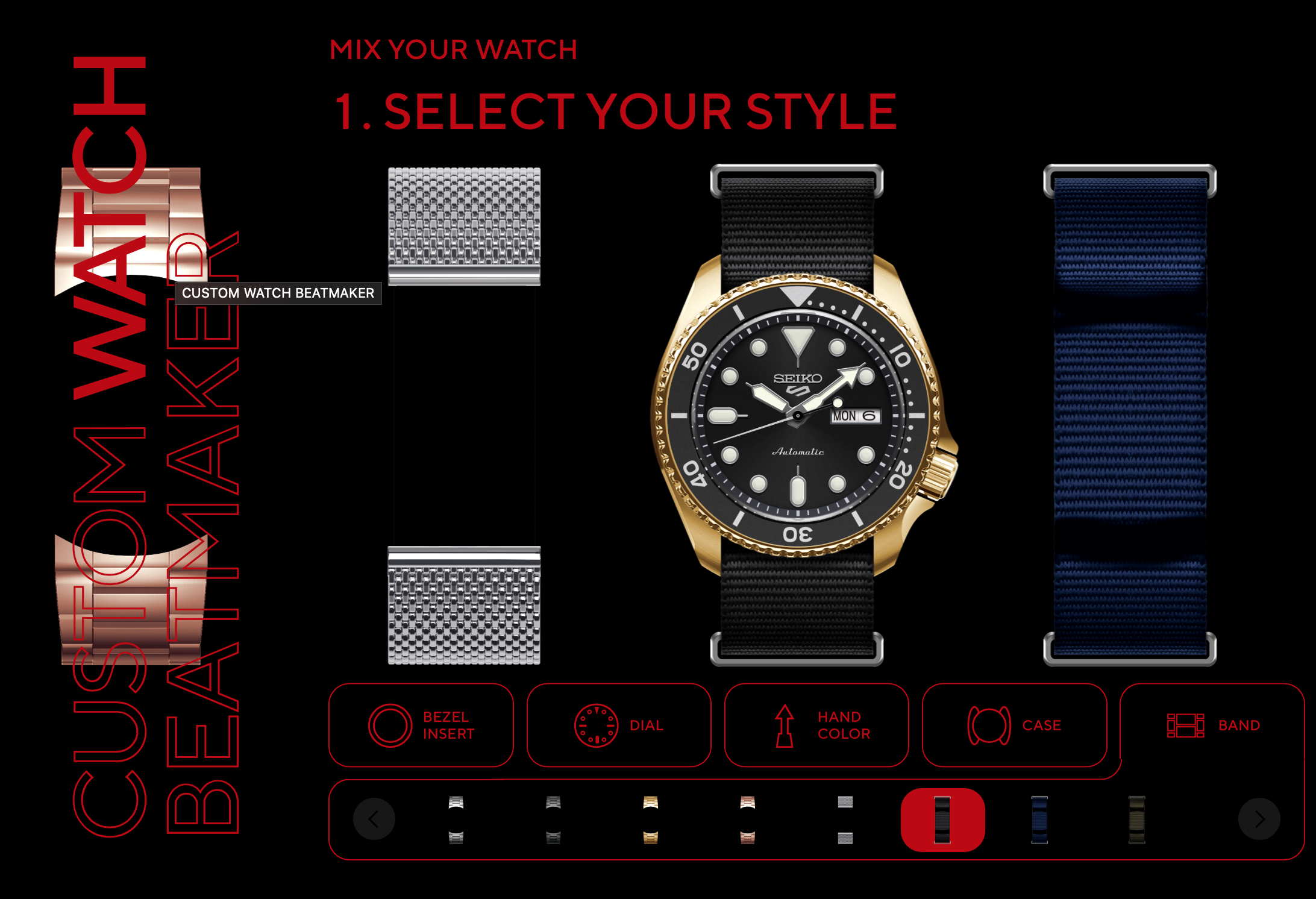 Design a Seiko 5 Sports online with the Custom Watch Beatmaker, get lots of votes, and see it released by Seiko