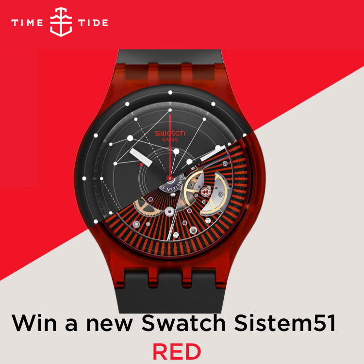 Win a new Swatch Sistem51 RED
