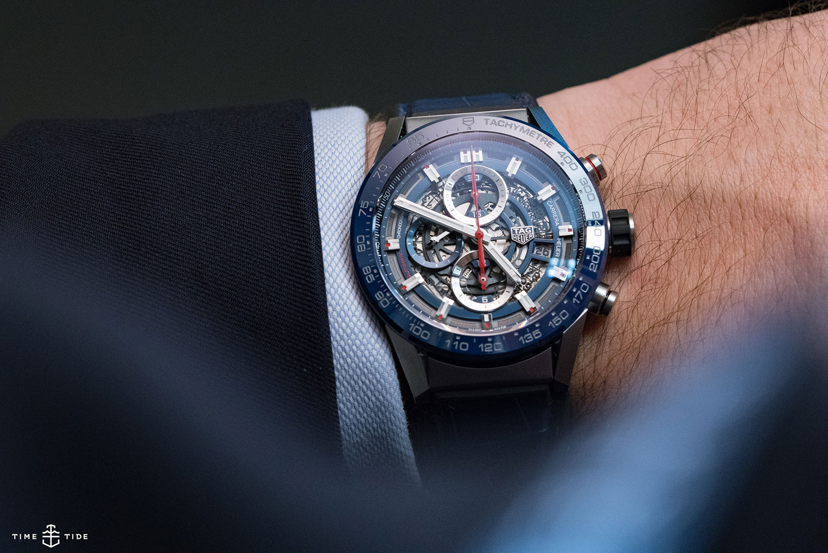 A slightly smaller statement watch, the TAG Heuer Carrera Heuer 0143mm
