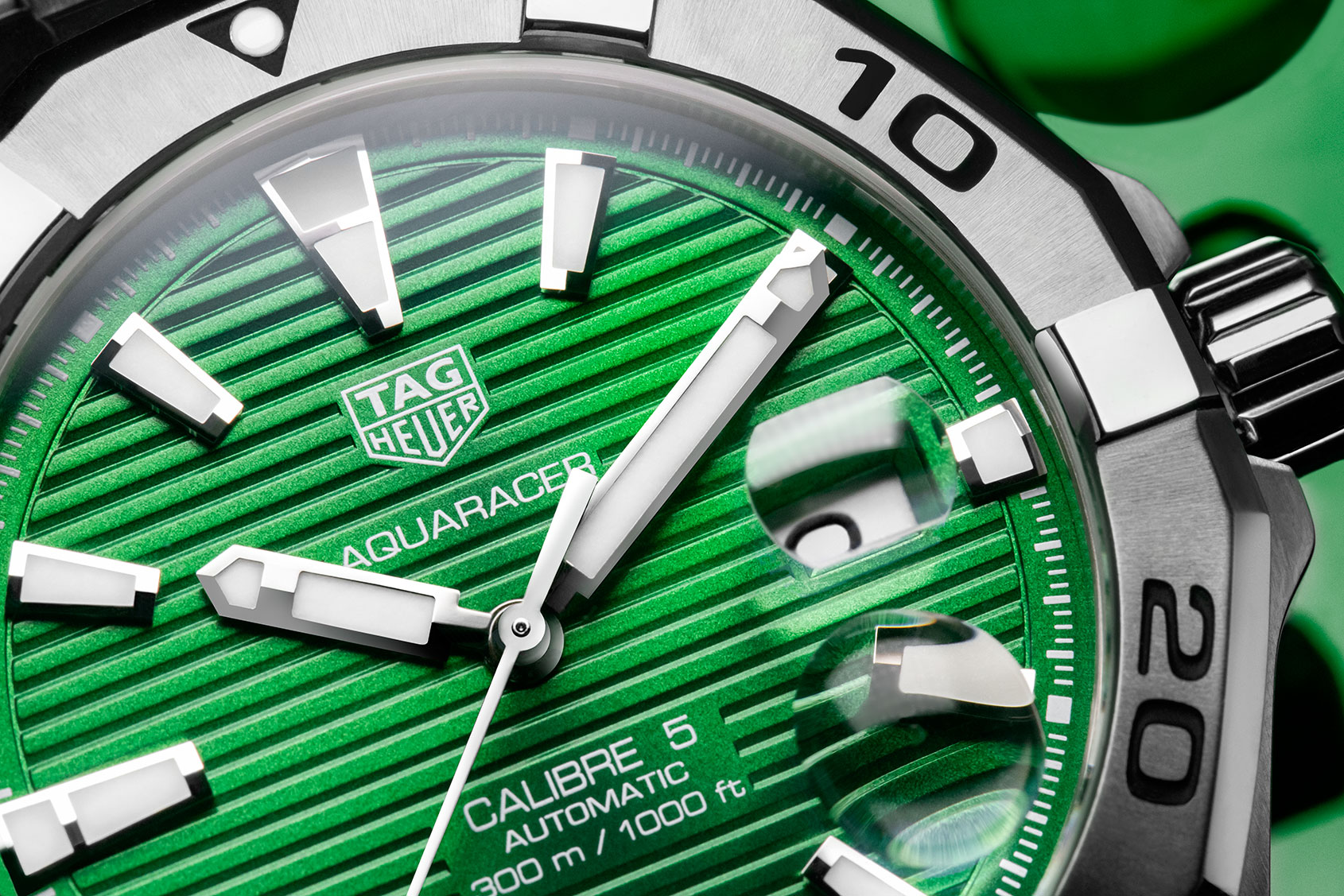 INTRODUCING: The emerald beauty of the TAG Heuer Aquaracer with green dial