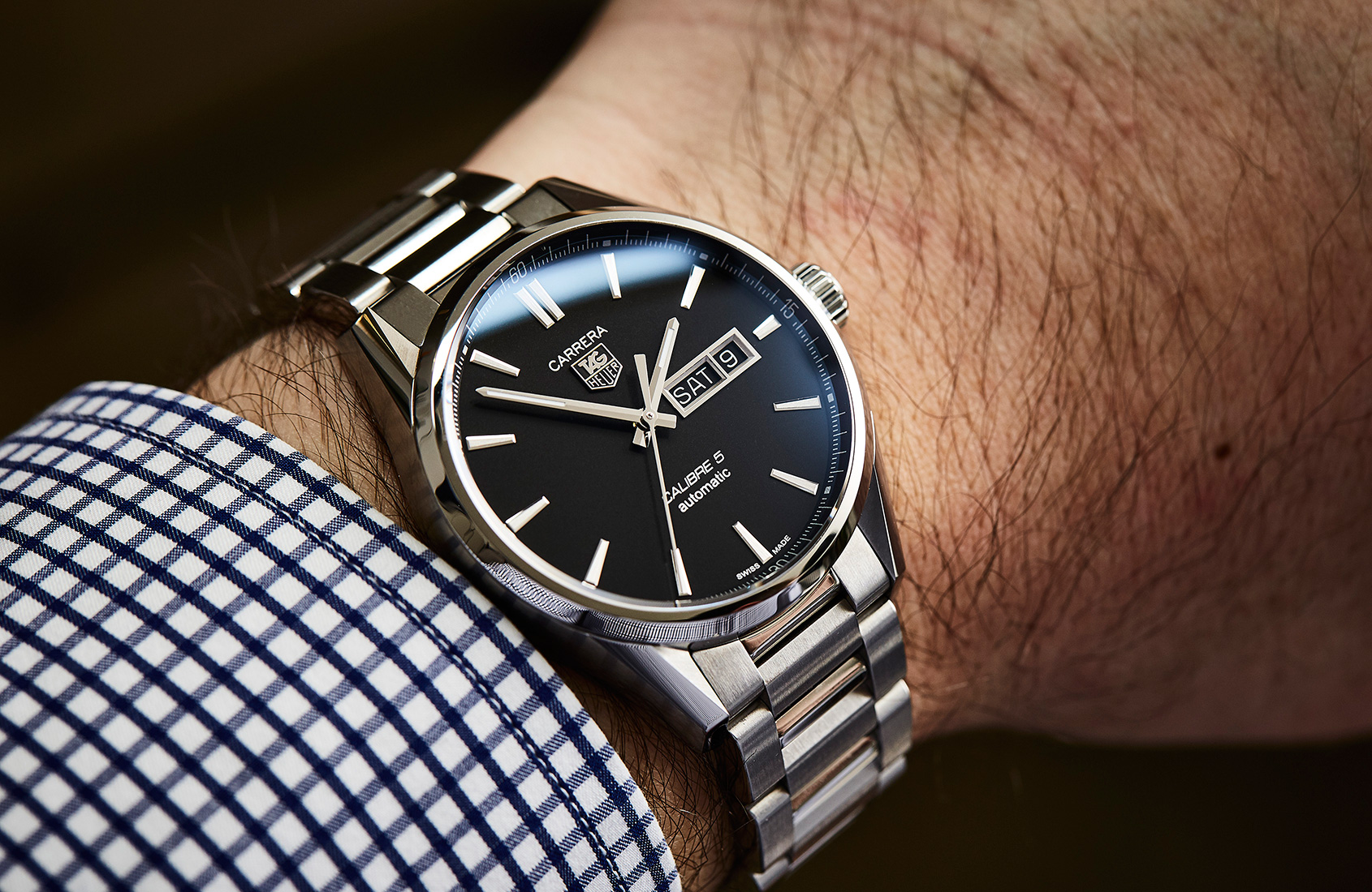 The TAG Heuer Carrera Calibre 5 Day-Date is a near-perfect daily wearer
