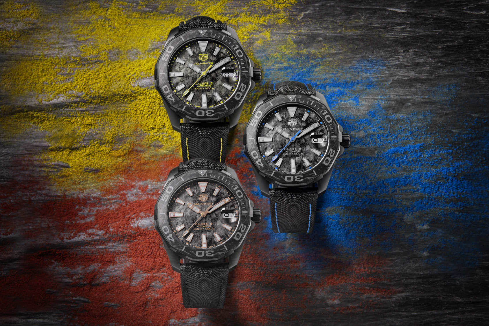 INTRODUCING: Altered carbon – the TAG Heuer Aquaracer 300M Carbon Collection