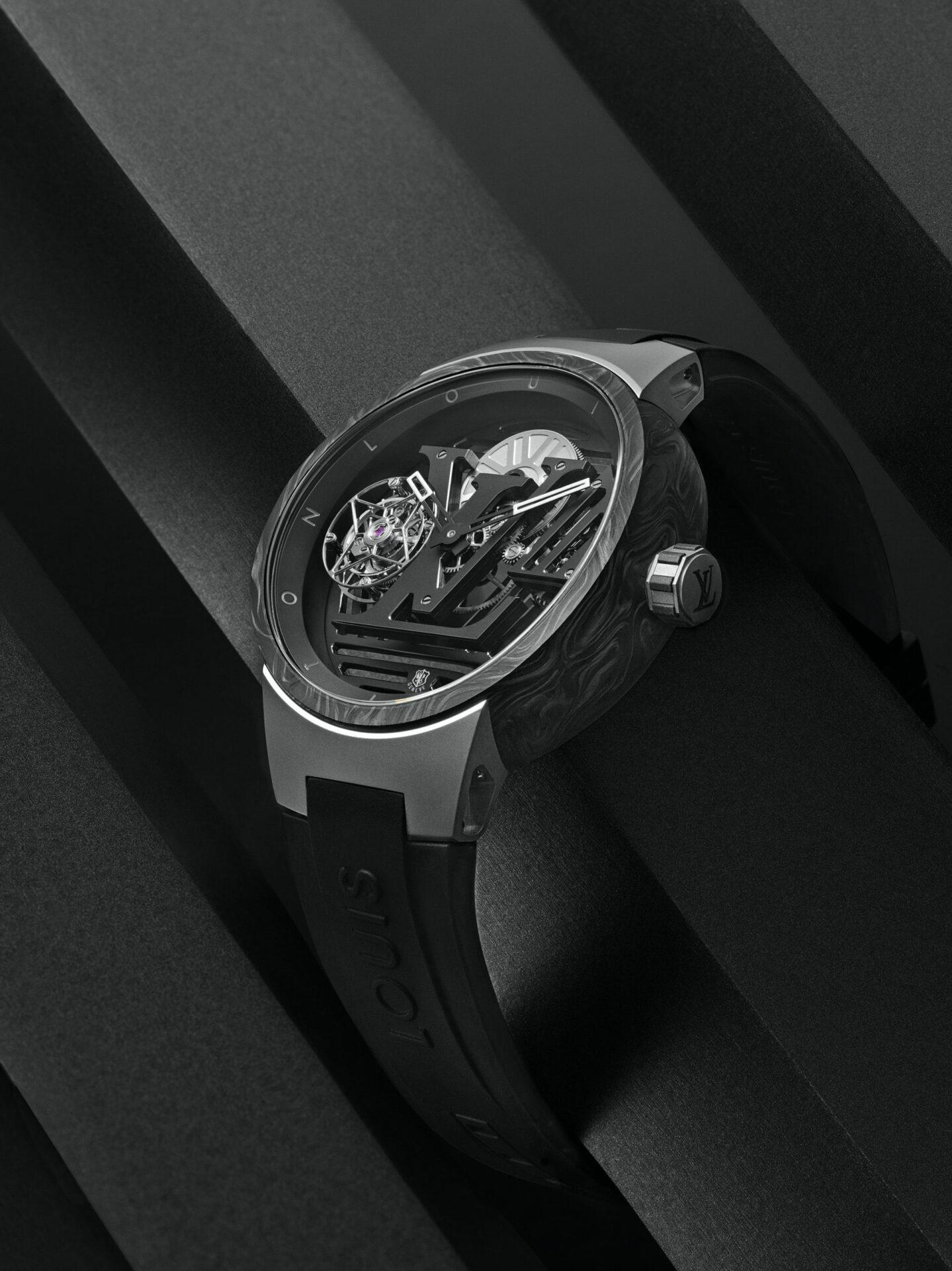 HANDS-ON: The dark traveller, Louis Vuitton's Tambour Curve Flying Tourbillon Poinçon de Genève