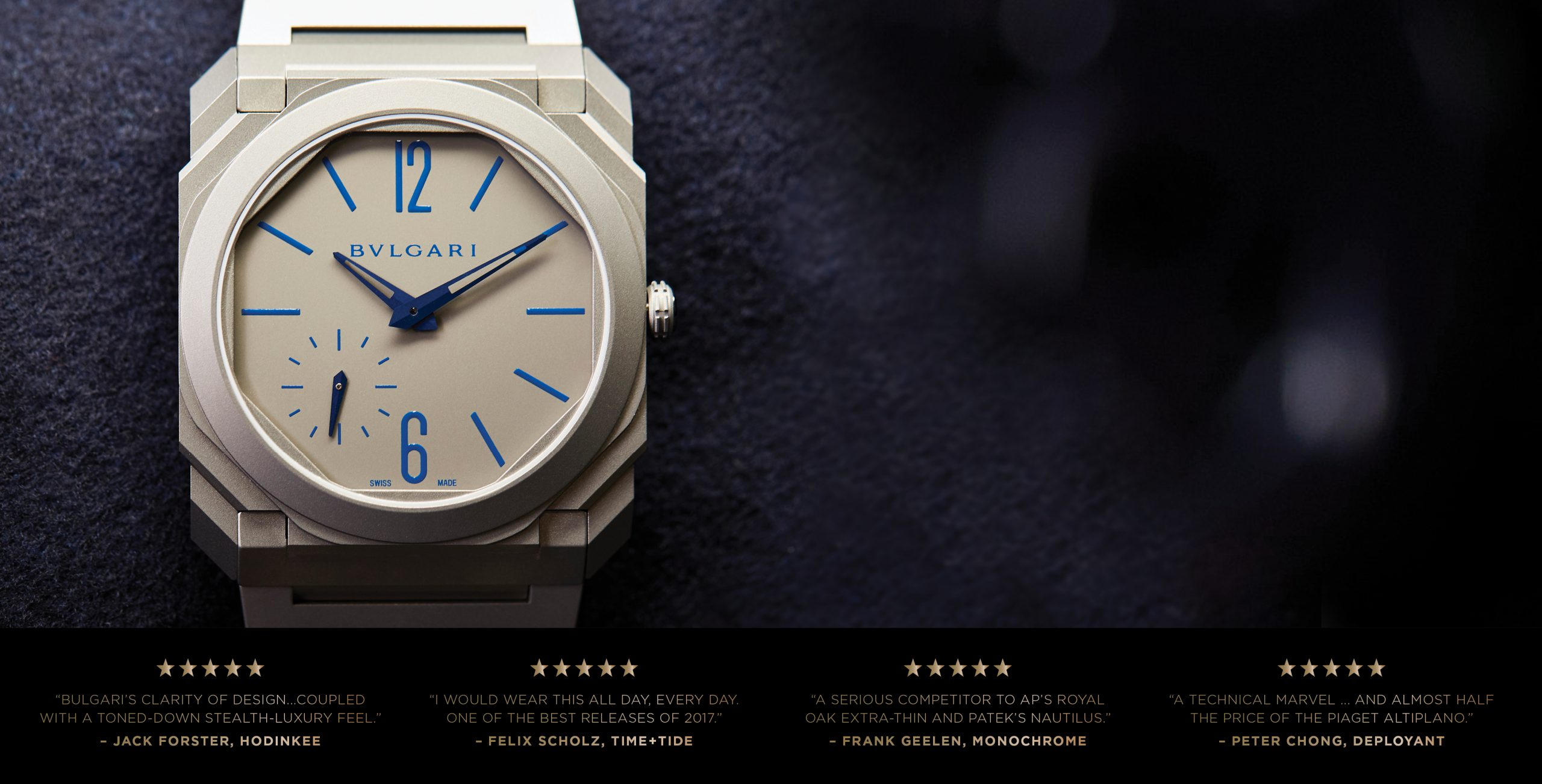 ANNOUNCING: Our shop is the only place in Australia you can buy the limited Bulgari Octo Finissimo Automatic Blue