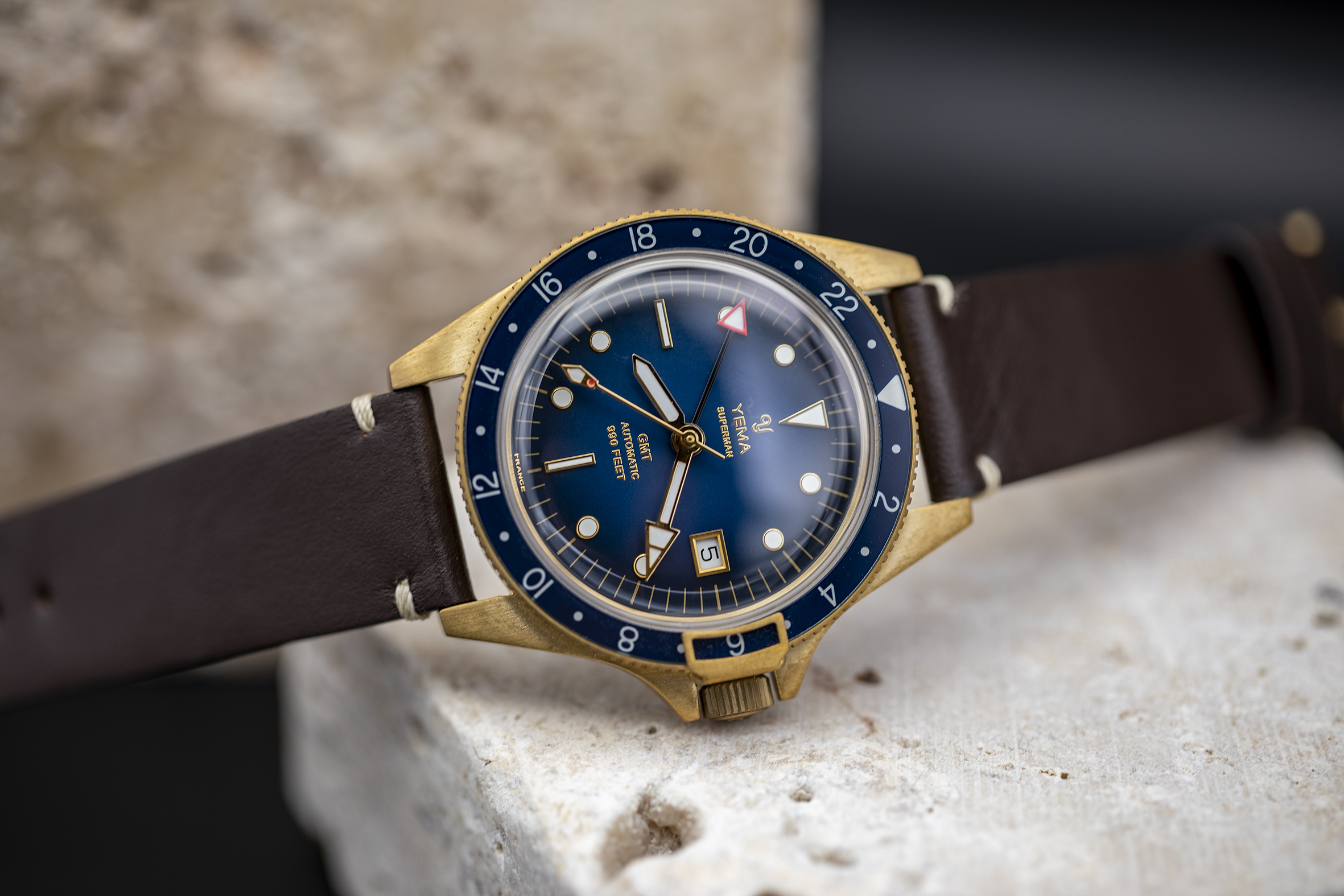 INTRODUCING: The new Yema Superman Bronze collection debuts two new in-house calibers, with fresh dials in a strong combination of steel and bronze