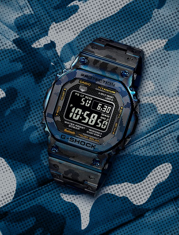"""The new G-Shock GMWB5000TCF-2 """"Blue Camo"""" is available for pre-order"""