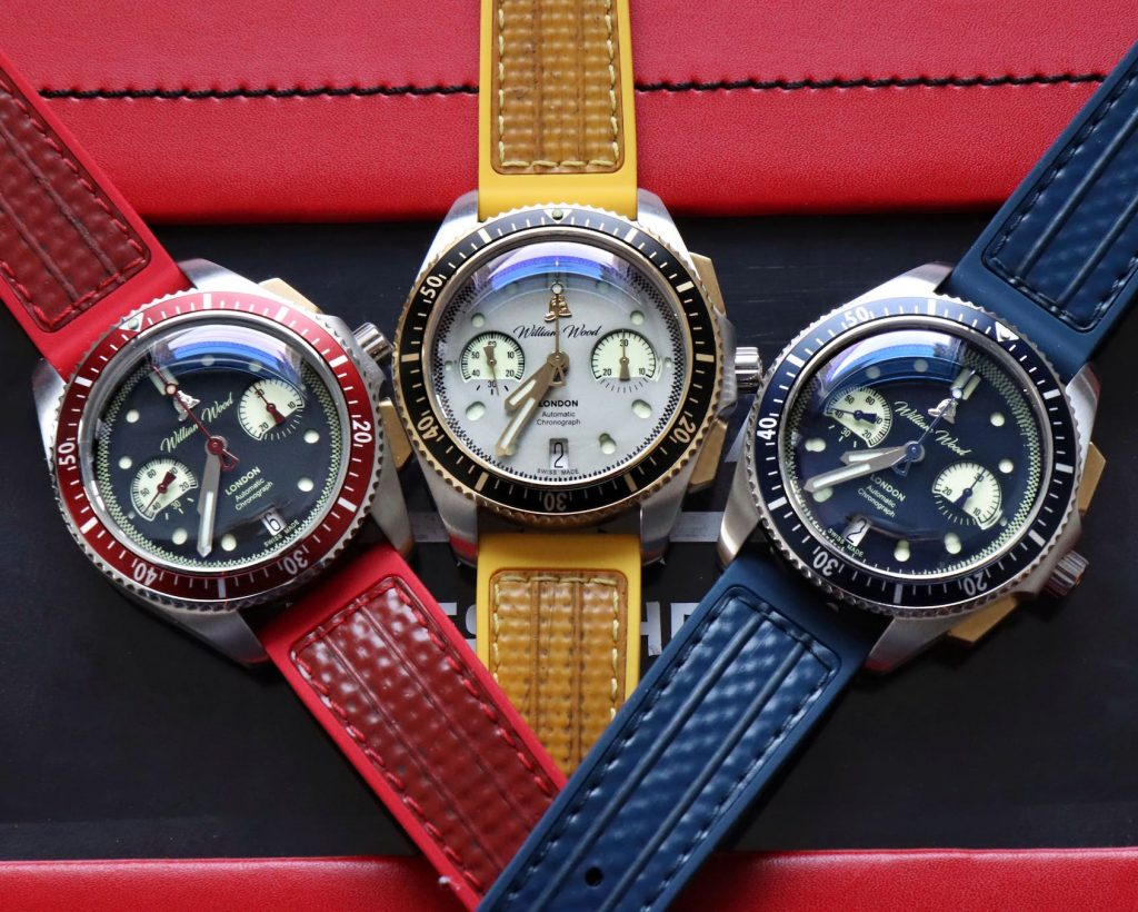 MICRO MONDAYS: The William Wood Triumph collection is a set of chronographs ready to catch fire