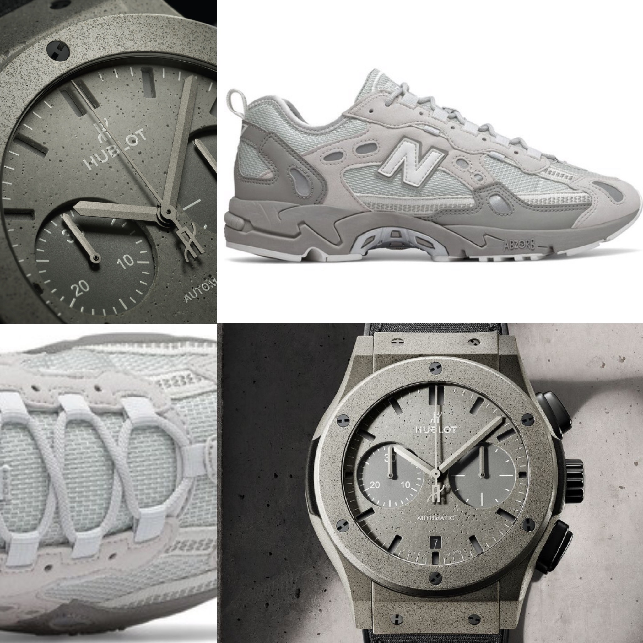 #Kicktock: Hublot's street-tough dial made from concrete meets its match with New Balance