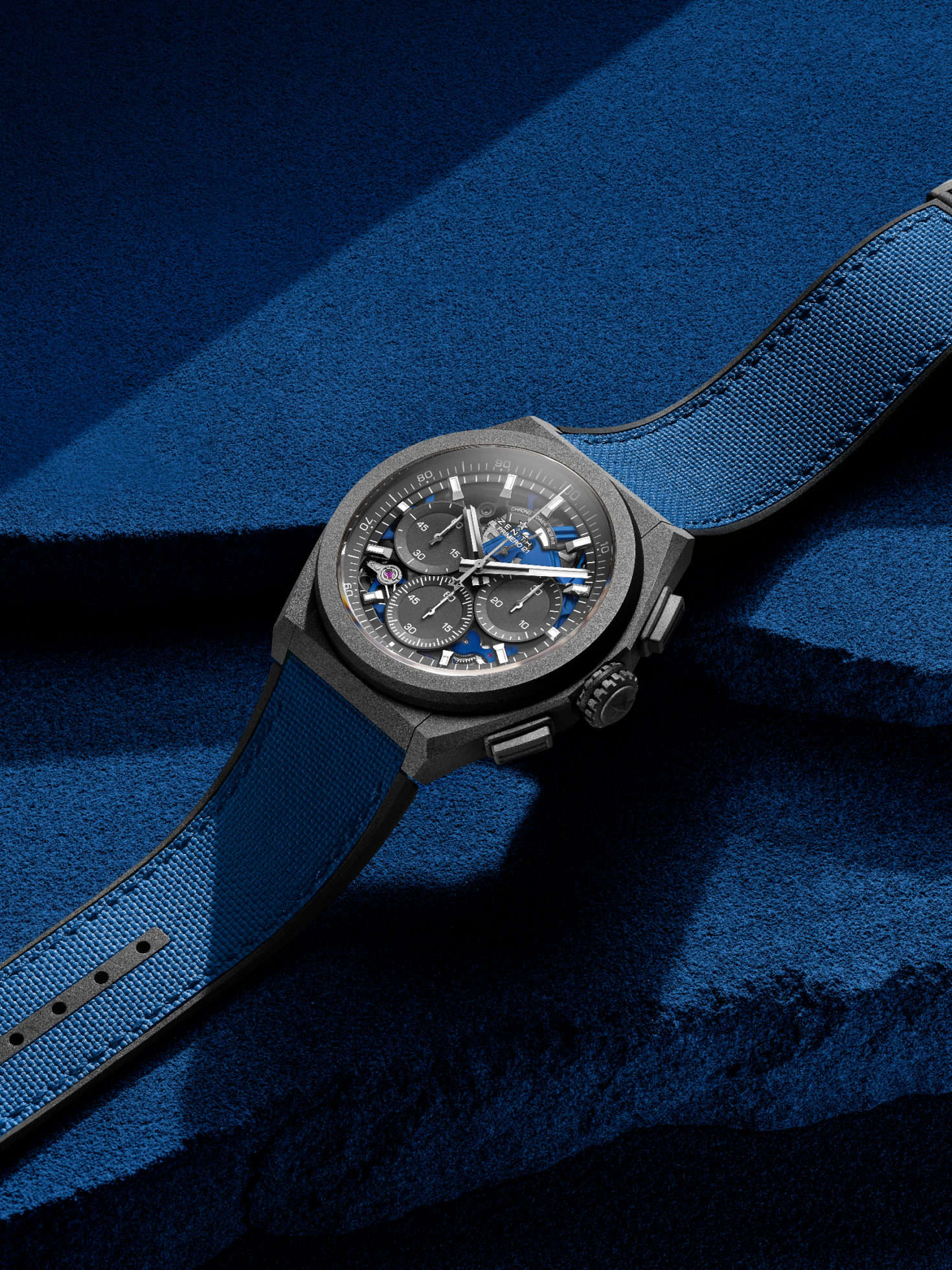 INTRODUCING: The Zenith DEFY 21 Ultrablue adds a touch of indigo to a high-tech tour de force