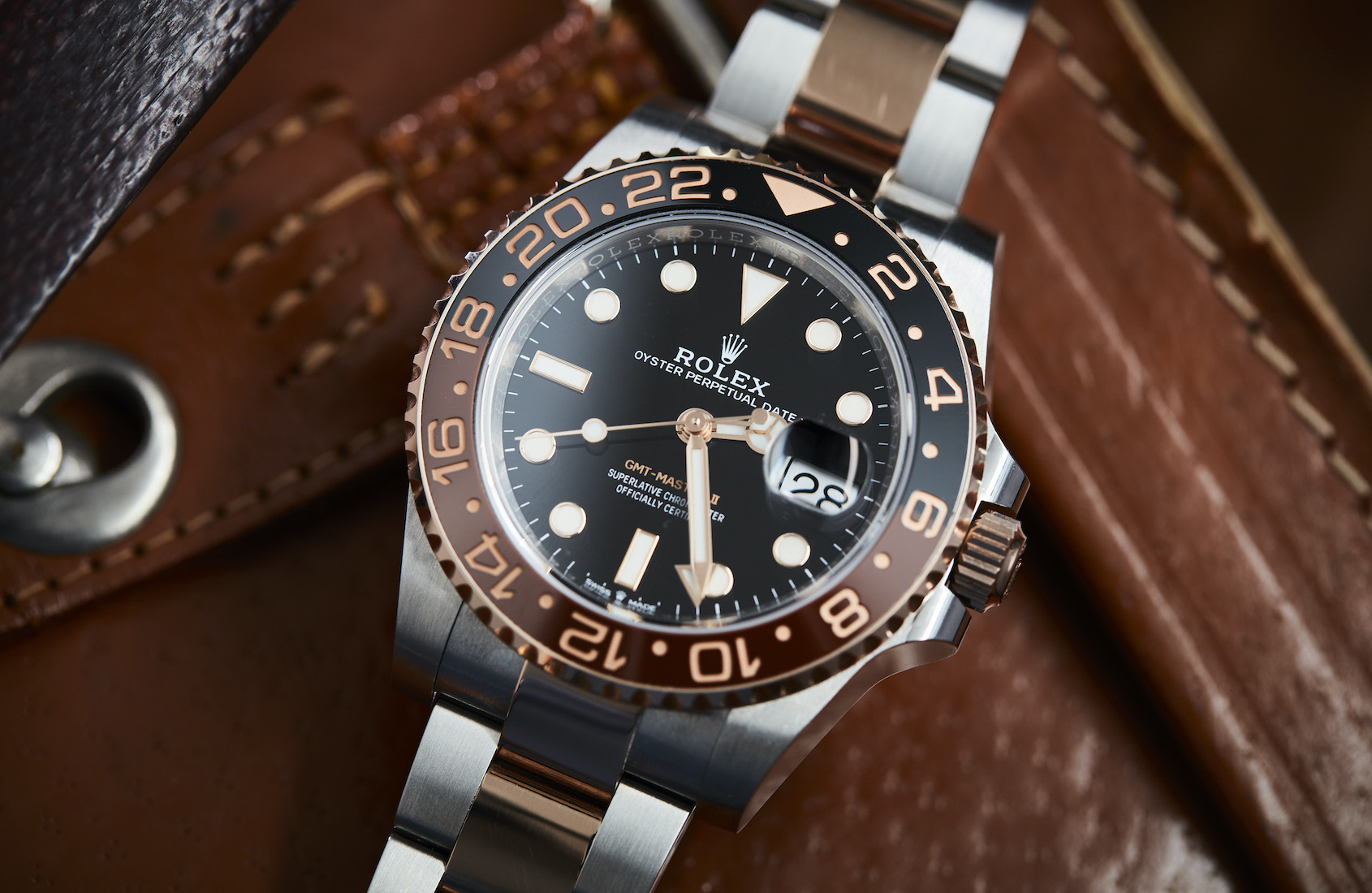 """VIDEO: Is the Rolex GMT Master II 126711CHNR """"Rootbeer"""" the best two-tone watch on the market today?"""