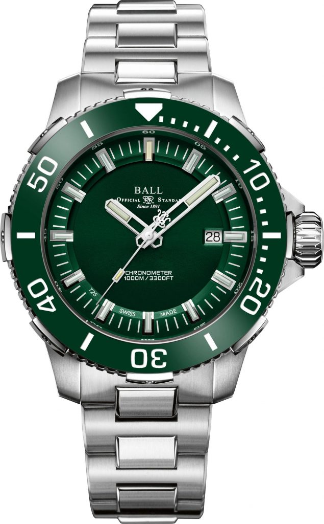 The Ball Engineer Hydrocarbon DeepQUEST Ceramic is a super deep diver (to the tune of 1km)