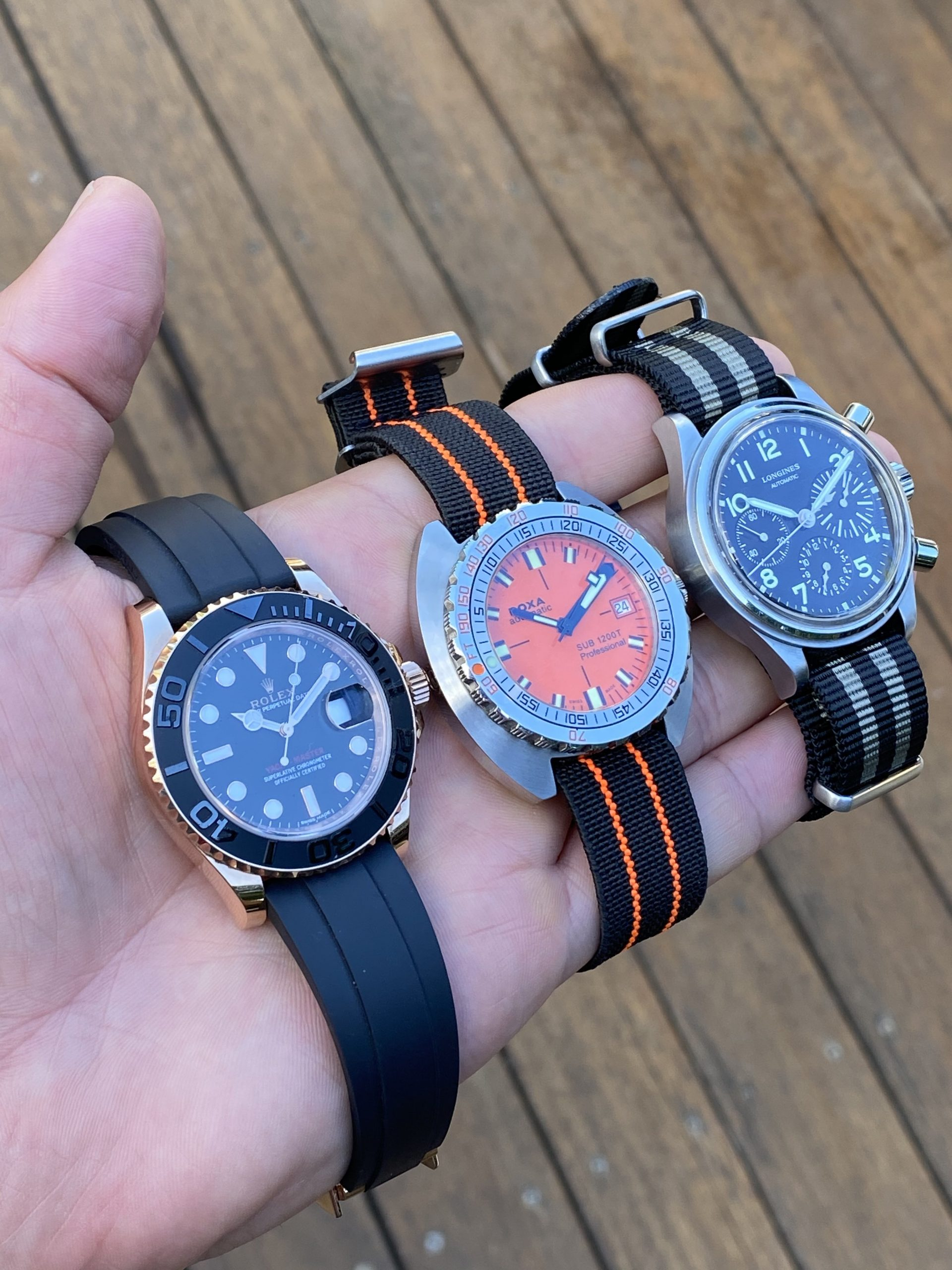 The three watches Andrew wore most in 2020: Rolex, DOXA and Longines