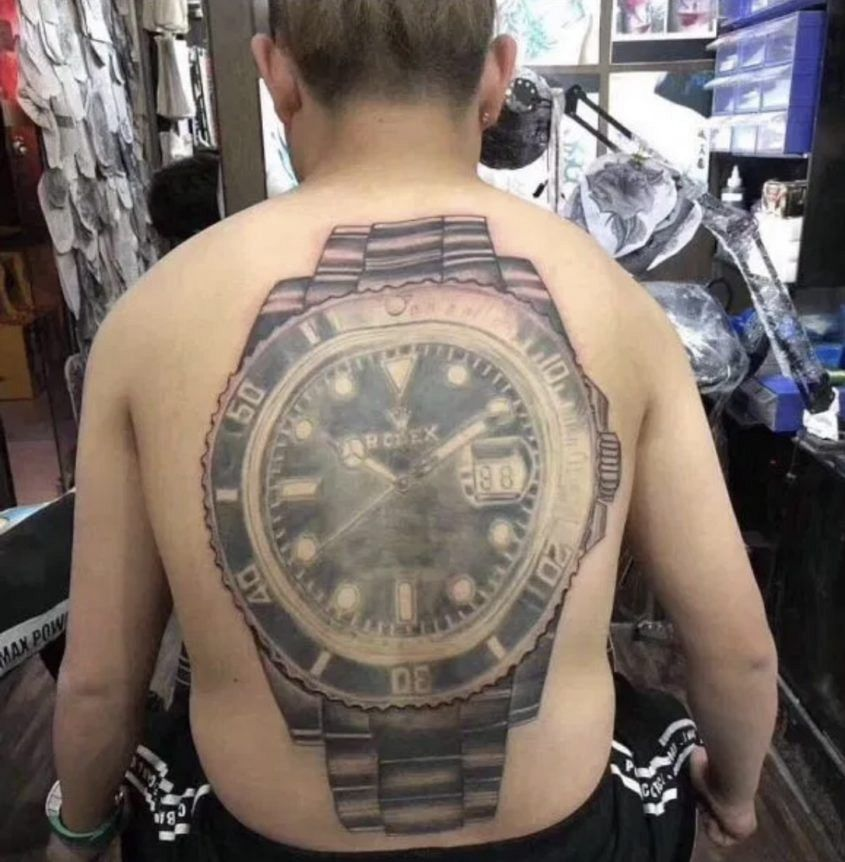 Watch tattoos have become a bizarre new trend